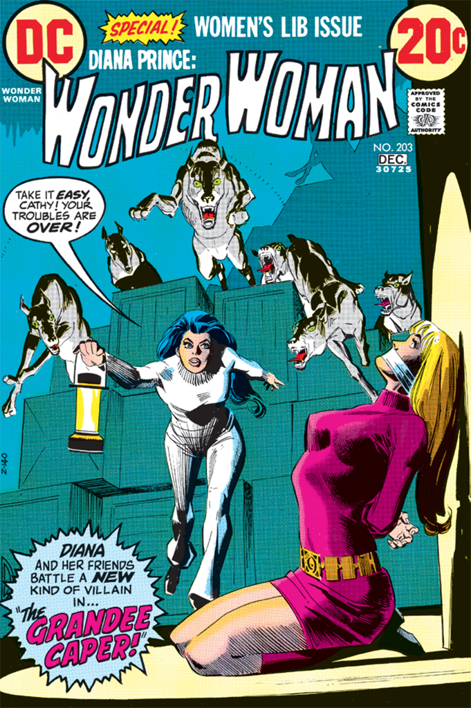 Cover of Dick Giordano's Wonder Woman, no. 203 (DC Comics, December 1972).