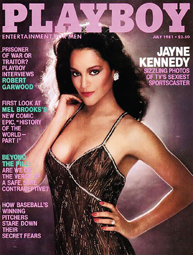 Cover of Playboy, July 1981. Jayne Kennedy.