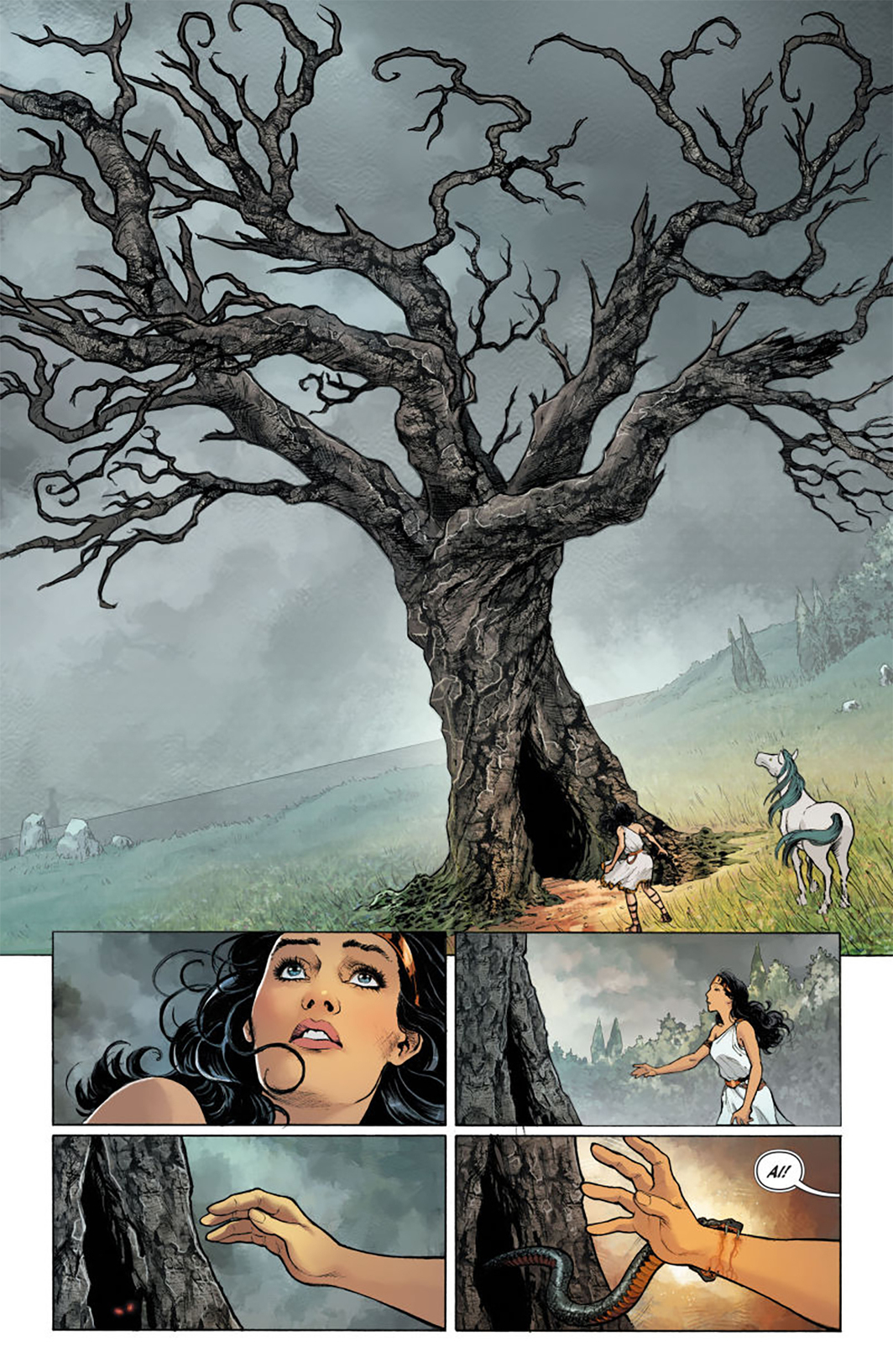 Detail from Greg Ruck and Liam Sharp's The Truth: Part Four, April 2017. From Wonder Woman 2016, no. 21 (DC Comics, 2017).