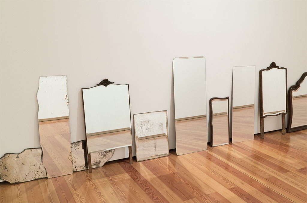 Marianne Mueller, Mirrors, 2017, mirrors. Installation view. Photo: Marianne Mueller.