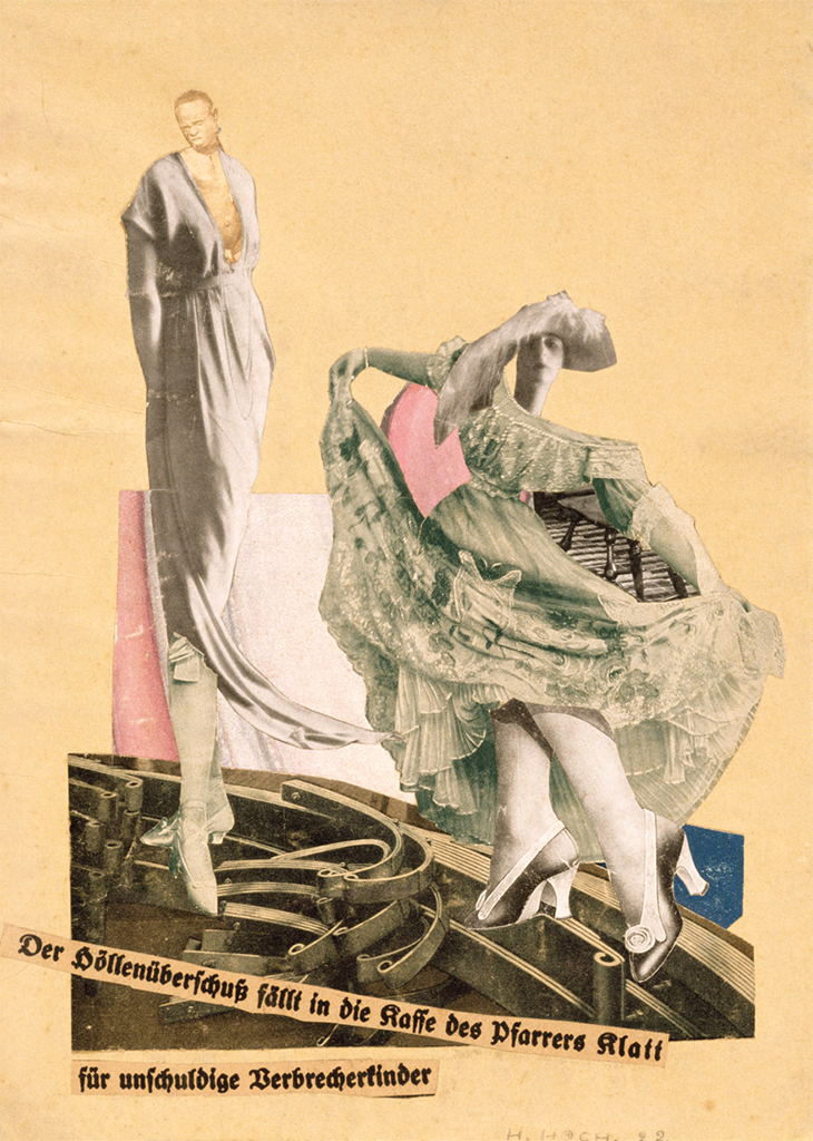 "Hannah Höch, Dada Tanz (Dada Dance), 1922, collage on paper, 12 5/8 × 9 1/8"". © Hannah Höch/Artists Rights Society (ARS), New York/VG Bild-Kunst, Germany."