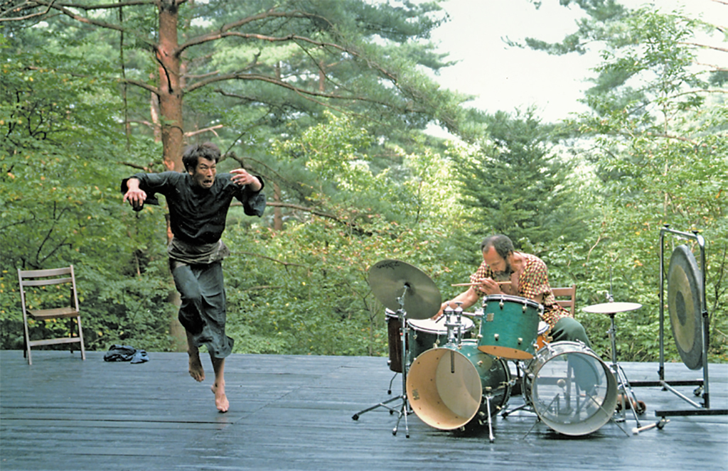 Butoh dancer Min Tinaka and Milford Graves, Hakushu, Japan, 1998.