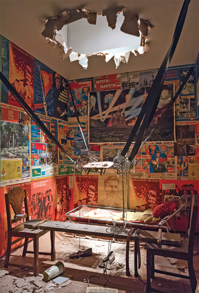 Ilya Kabakov, The Man Who Flew into Space from His Apartment, 1985, mixed media. Installation view, 2017. Photo: Andrew Dunkley.