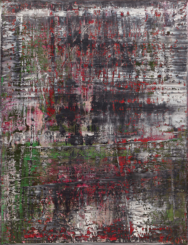 "Gerhard Richter, Birkenau, 2014, oil on canvas, 102 3/8 x 78 3/4""."