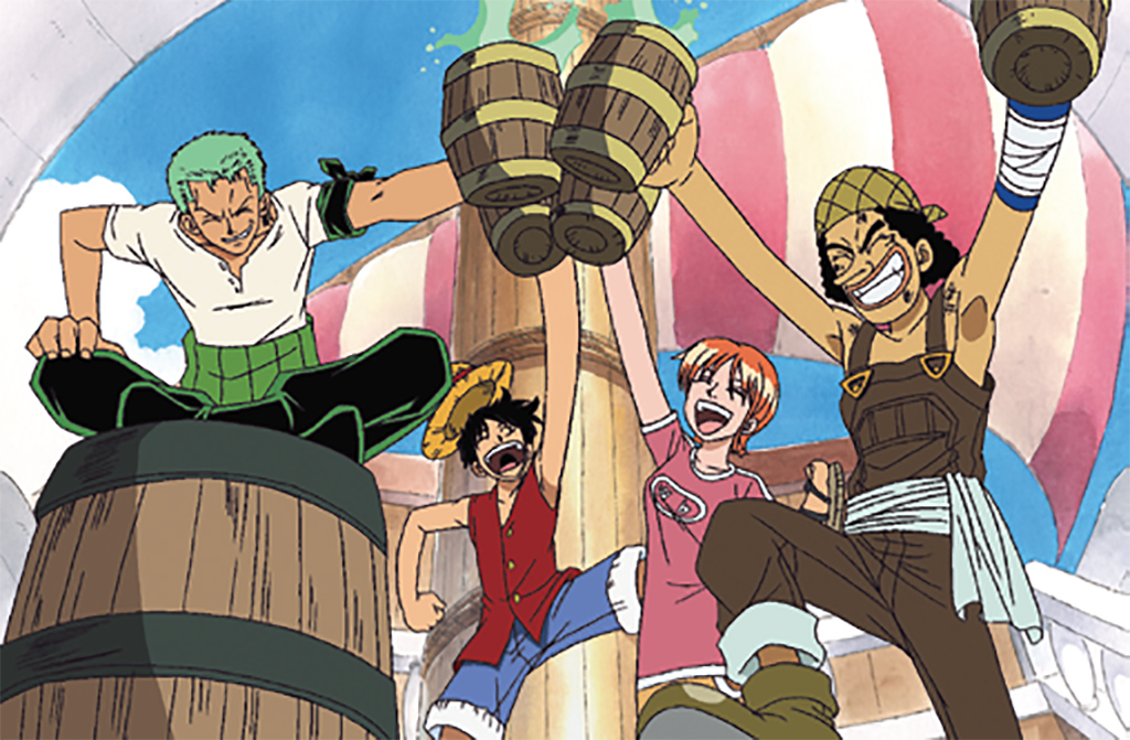 *_One Piece_, 1999–*, still from a TV show on Fuji Television. Season 1, episode 17.