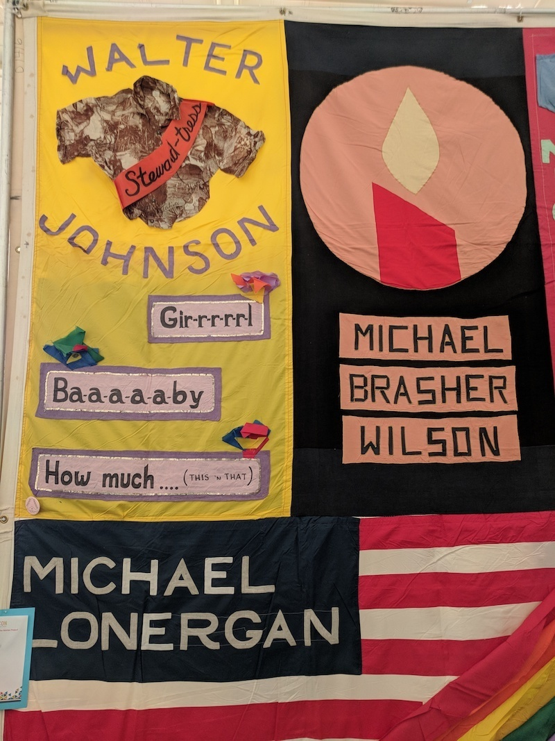 A section of the AIDS Memorial Quilt at QuiltCon in Pasadena. (Photo: Andy Campbell)
