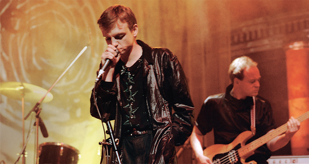 Mark E. Smith and The Fall performing on The Tube television show, London, November 8, 1985. Photo: ITV/Rex/Shutterstock.