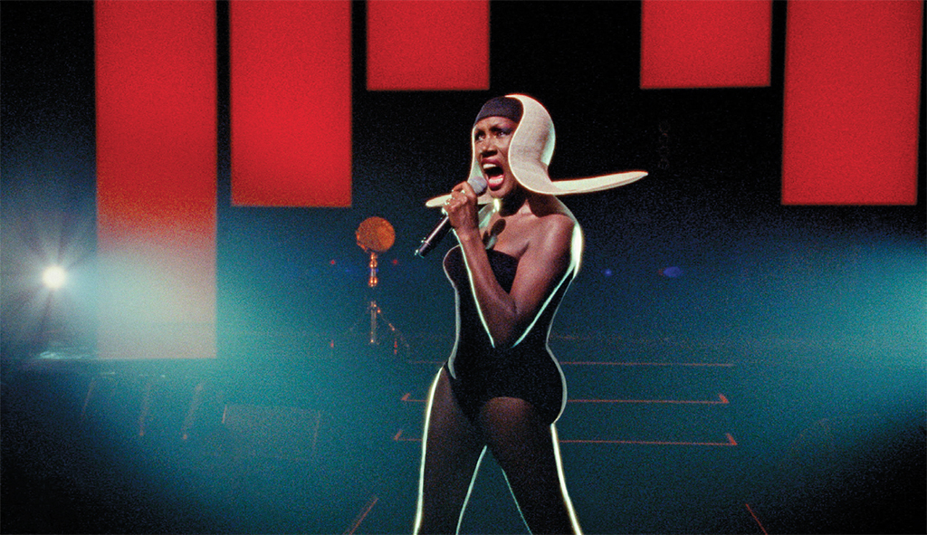 Sophie Fiennes, Grace Jones: Bloodlight and Bami, 2017, 16 mm and video transferred to 2K video, color, sound, 115 minutes. Grace Jones.