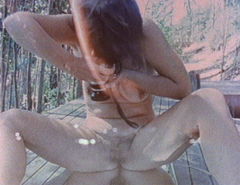 Still from Barbara Hammer's Dyketactics, 1974, 16 mm transferred to digital video, color, sound, 4 minutes.