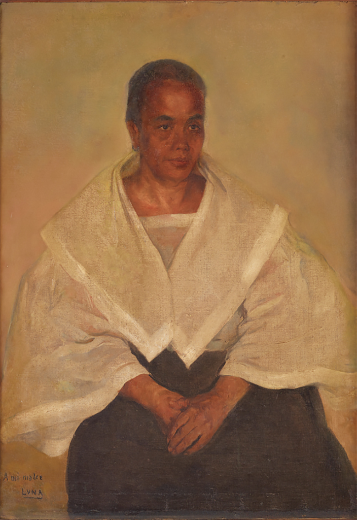 "Juan Luna, Mi madre (Portrait of Laureana Novicio de Luna y Ancheta), 1897, oil on canvas, 43 5/8 × 31""."