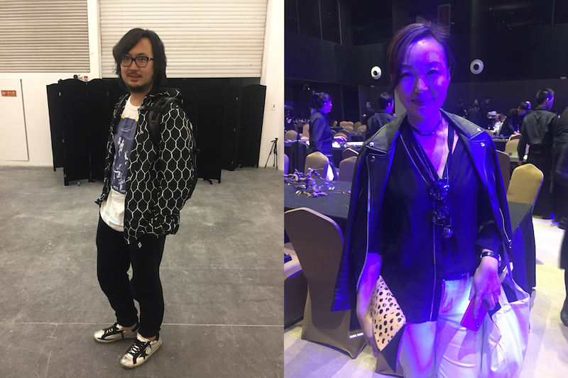Left: Collector Chong Zhou. Right: Collector Cissy Chen.