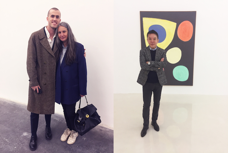 Left: Dealers Thor Shannon and Isabella Bortolozzi. Right: Dealer Xinyou Wang.