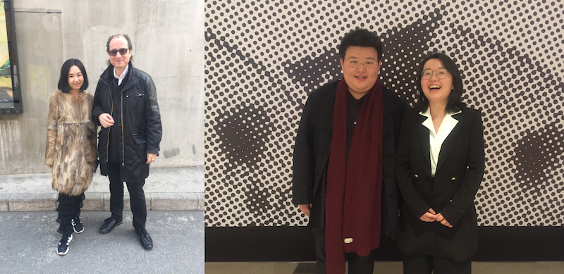 Left: Wan Wang, head of VIP GWBJ and Désiré Feuerle, collector. Right: Collector Jian Shi and Luqing Wang.