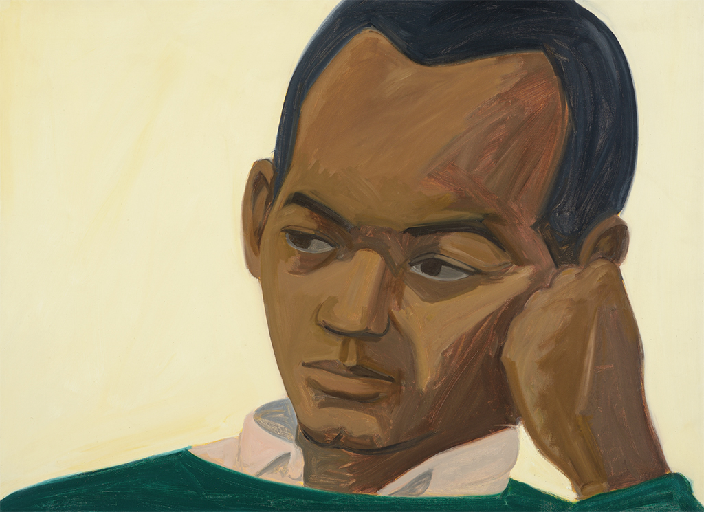 "Alex Katz, Kynaston, 1963, oil on linen, 35 × 48"". © Alex Katz/Licensed by VAGA, New York, NY."
