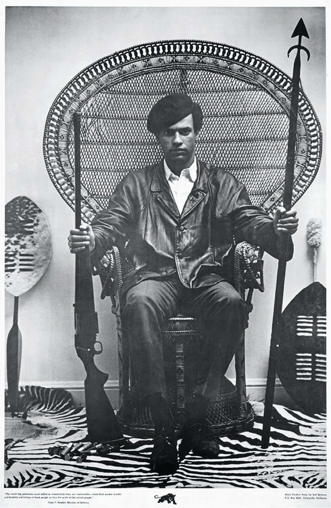 Black Panther Party poster featuring cofounder Huey P. Newton, 1968. Photo: Blair Stapp/Library of Congress.
