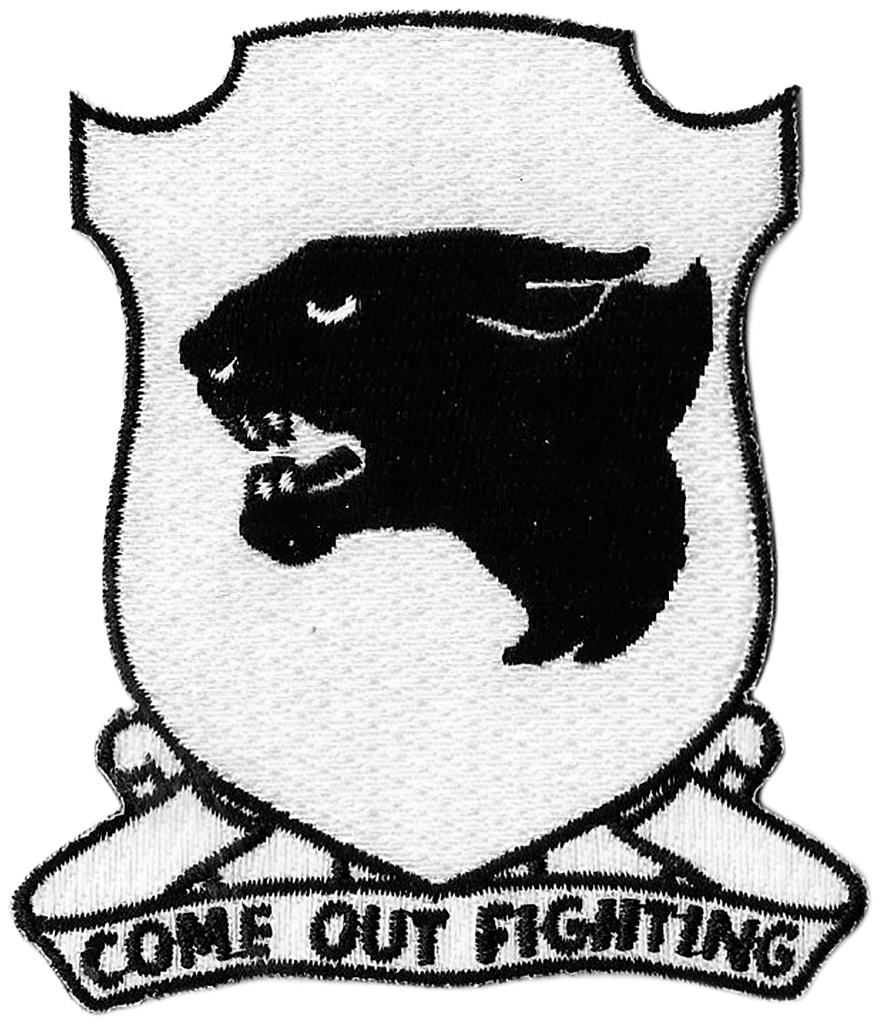 Contemporary reproduction of the United States Army 761st Tank Battalion's military patch.