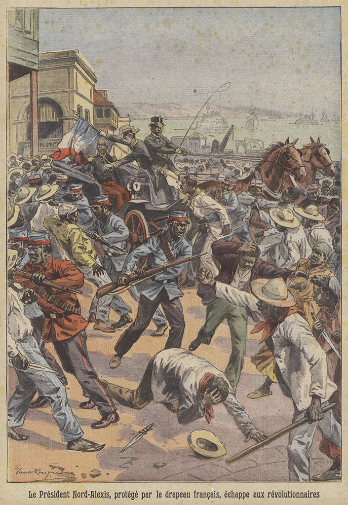 Page from Le Petit Parisien, December 20, 1908, depicting the Haitian revolution. Illustration: Paul Dufresne.