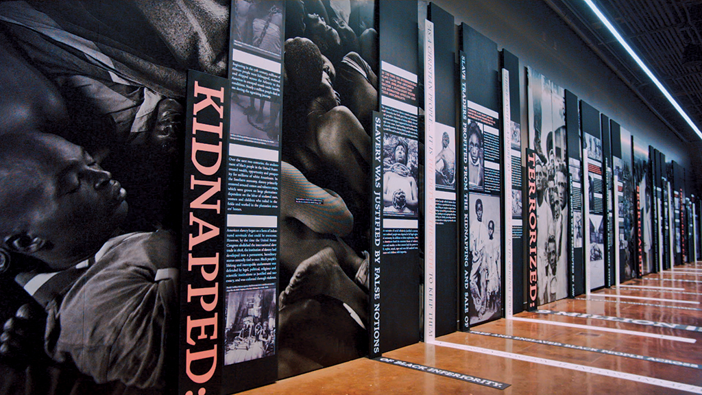 View of the Legacy Museum: From Enslavement to Mass Incarceration, Montgomery, AL, 2018. Photos: Equal Justice Initiative.