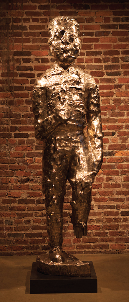 Sanford Biggers, BAM (For Michael), 2015, bronze. Installation view, the Legacy Museum: From Enslavement to Mass Incarceration, Montgomery, AL, 2018. Photo: Equal Justice Initiative.