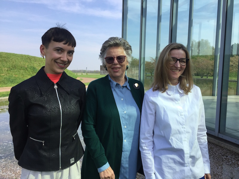 The White Review's Izabella Scott, Sabine Langen-Crasemann of the Langen Foundation, and curator Christiane Maria Schneider.