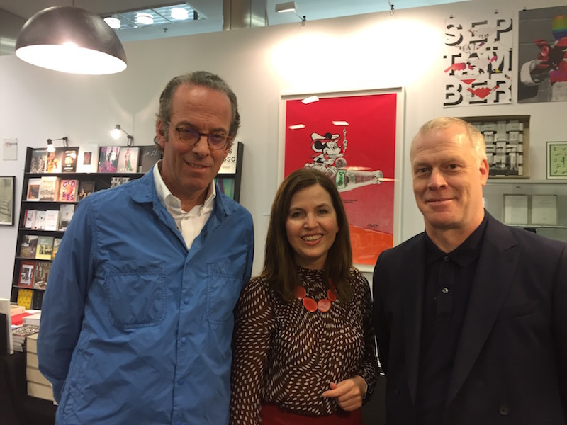 Georg Jacobi of The Braunsfelder Family Collection; Katia Baudin, director of Kunstmuseum Krefeld; and Art Cologne director Daniel Hug.