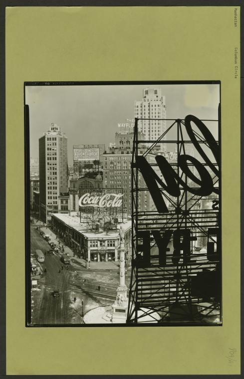 Berenice Abbott, Manhattan: Columbus Circle, 1936-38. Photo: The New York Public Library.