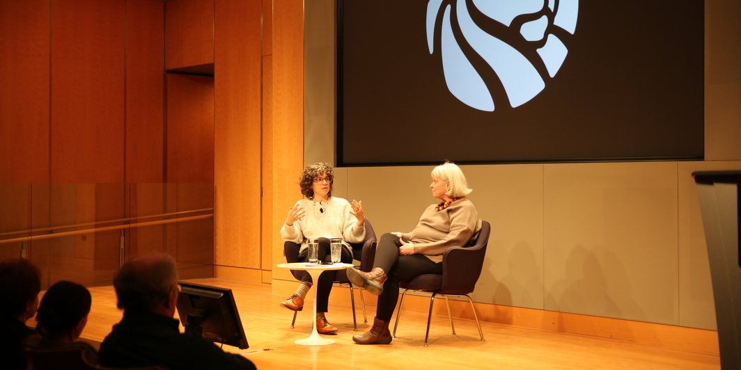 "Anna Craycroft and Julia Van Haaften talk about ""Berenice Abbott: A Life In Photography"" at the New York Public Library, April 18, 2018."