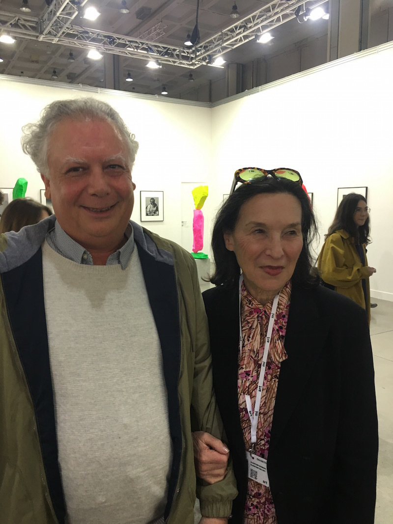 Dealers Alessandro Seno and Barbara Gladstone.