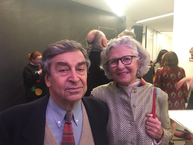 Architect Franco Raggi and arts patron Martina Fiocchi Rocca.