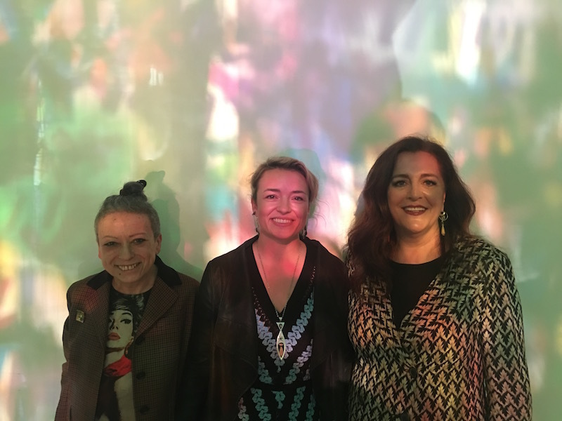 Mariuccia Casadio, artist Rachel Hayes, and creative director of Missoni, Angela Missoni.