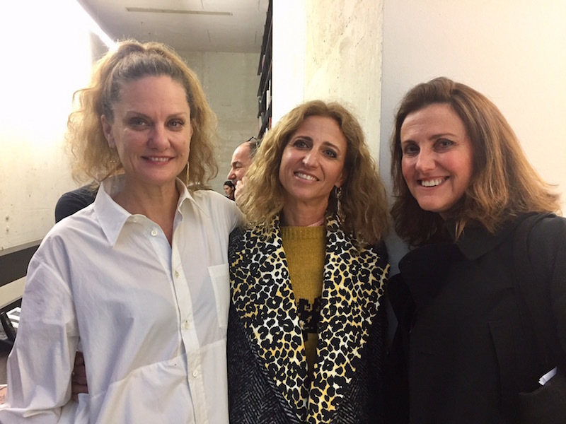 Artist Andrea Bowers, dealer Francesca Kaufmann, and curator Marcella Beccaria.