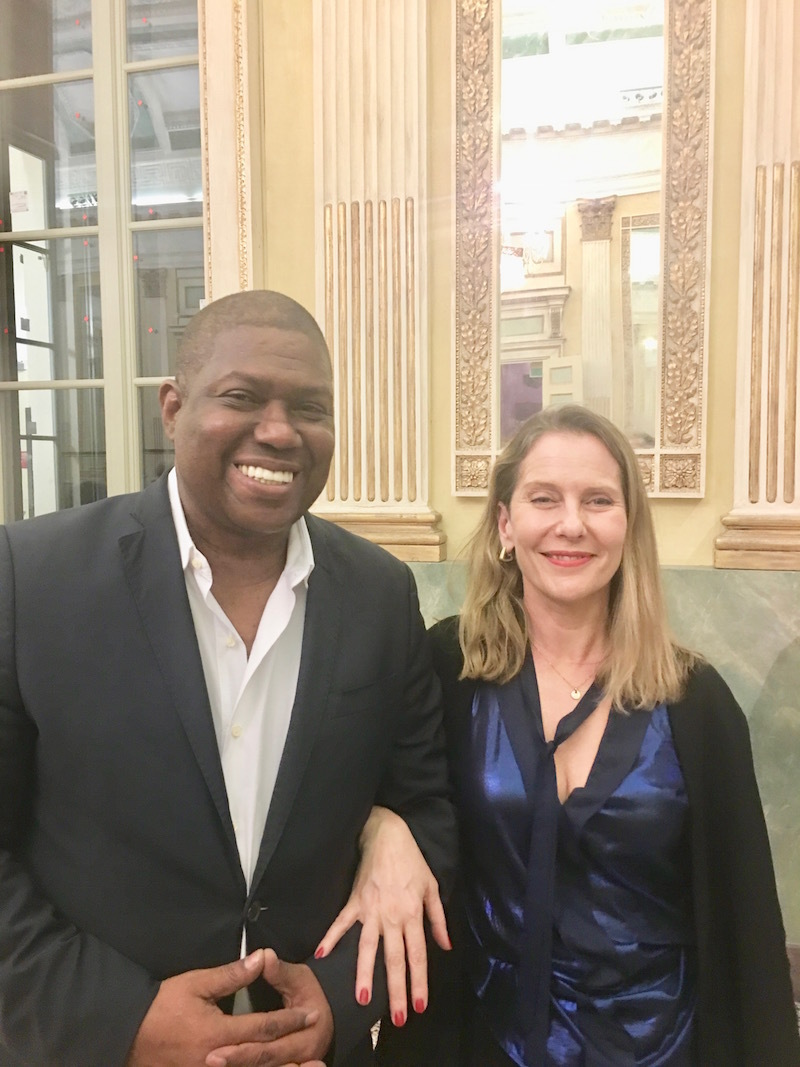 Senior curator in the Department of Architecture and Design and director of Research and Development at MoMA, Paola Antonelli, with her husband Laurence Carty.