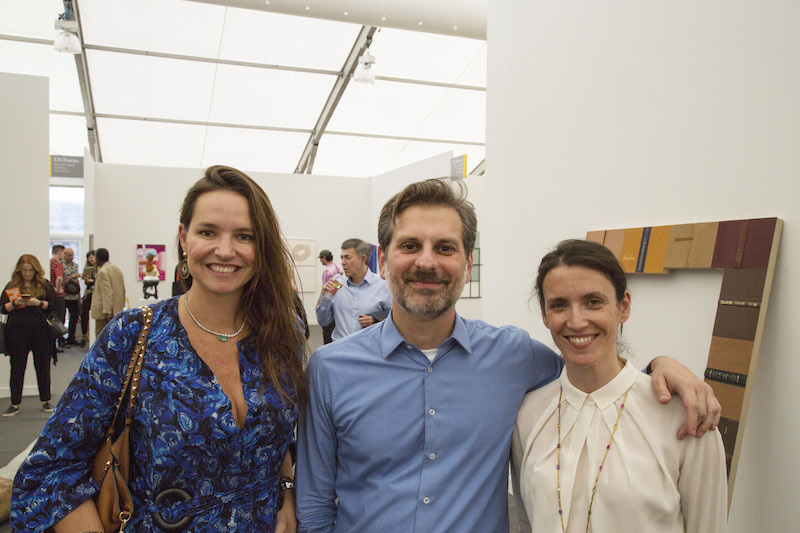 Brenda Valansi, cofounder of ArtRio, with dealers Alexandre Gabriel and Maria Ana Pimenta.