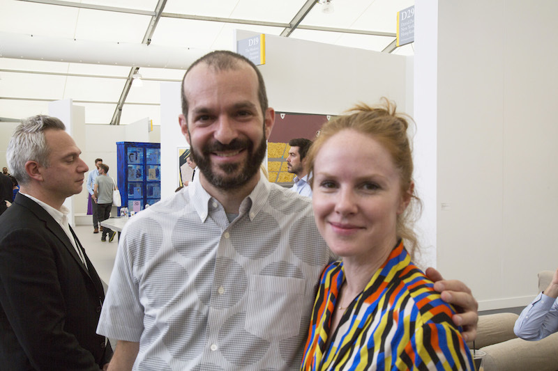 Jonah Disend, CEO of Redscout, and Andrea Cashman, director at David Zwirner.