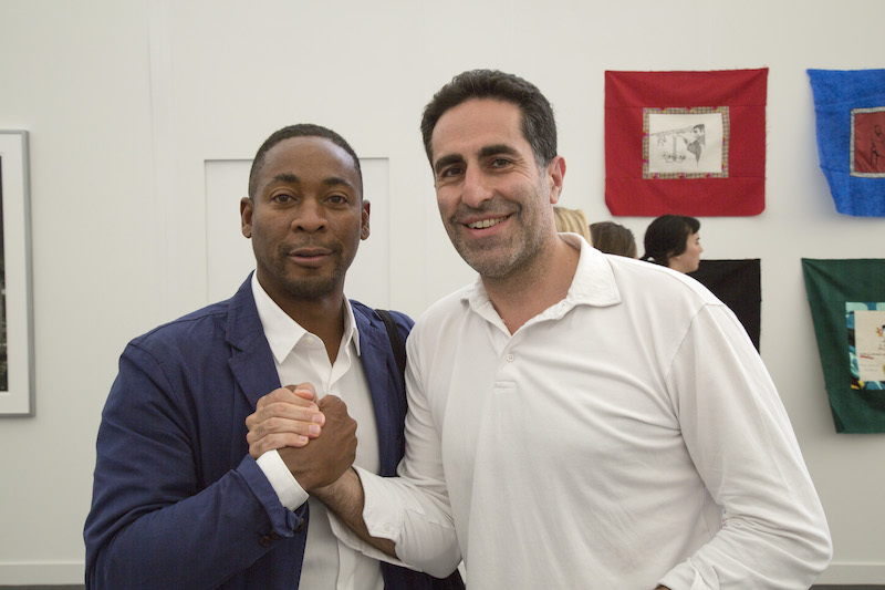 Franklin Sirmans, director of the Pérez Art Museum Miami, with dealer and curator Amir Shariat.