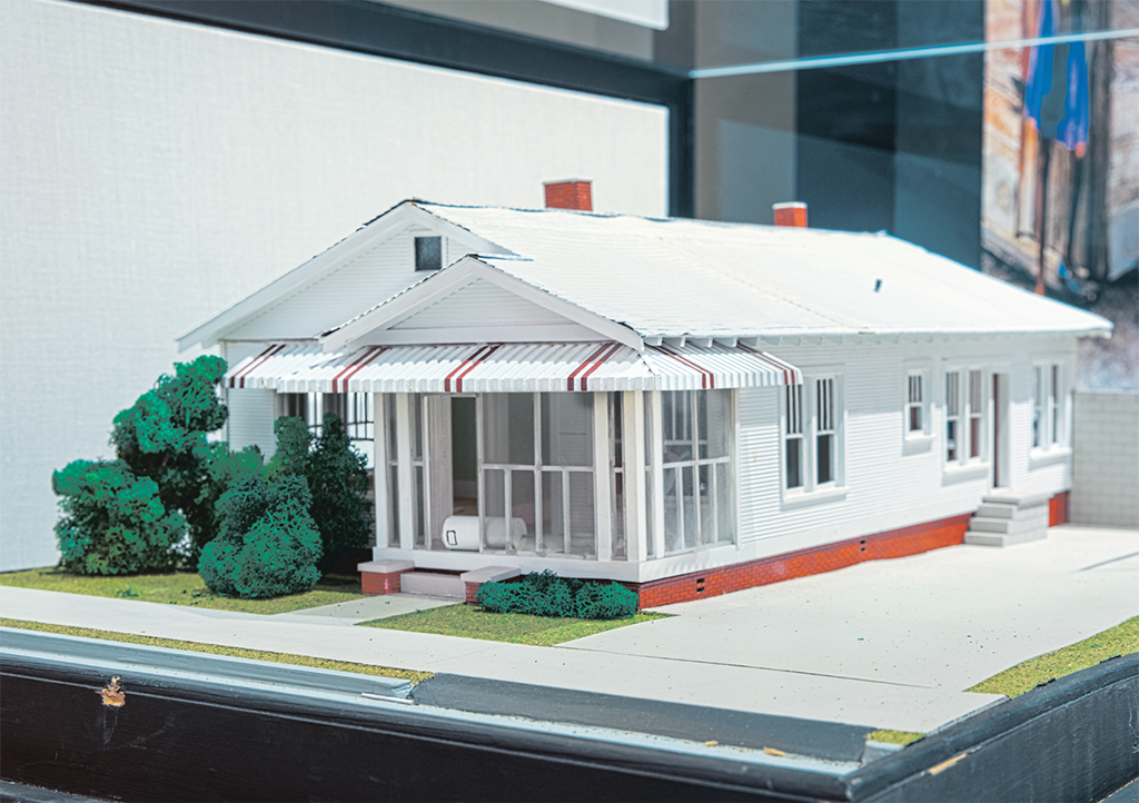 "Model of the Republic of New Afrika Headquarters, ca. 1971. From ""Black Empowerment,"" 2017–, Mississippi Civil Rights Museum, Jackson. Photos: Tom Beck."
