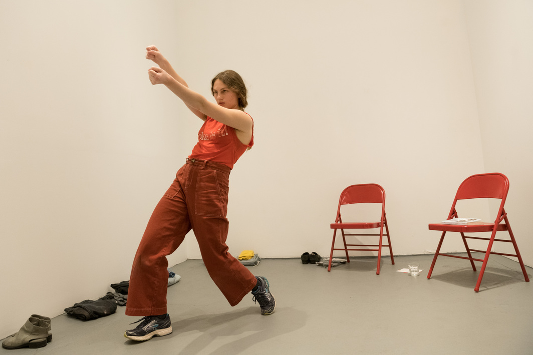 Lauren Bakst, Private Collection, 2018. Performance view, Klaus von Nichtssagend Gallery, New York, New York, 2018. Lauren Bakst. Photo: Ian Douglas.