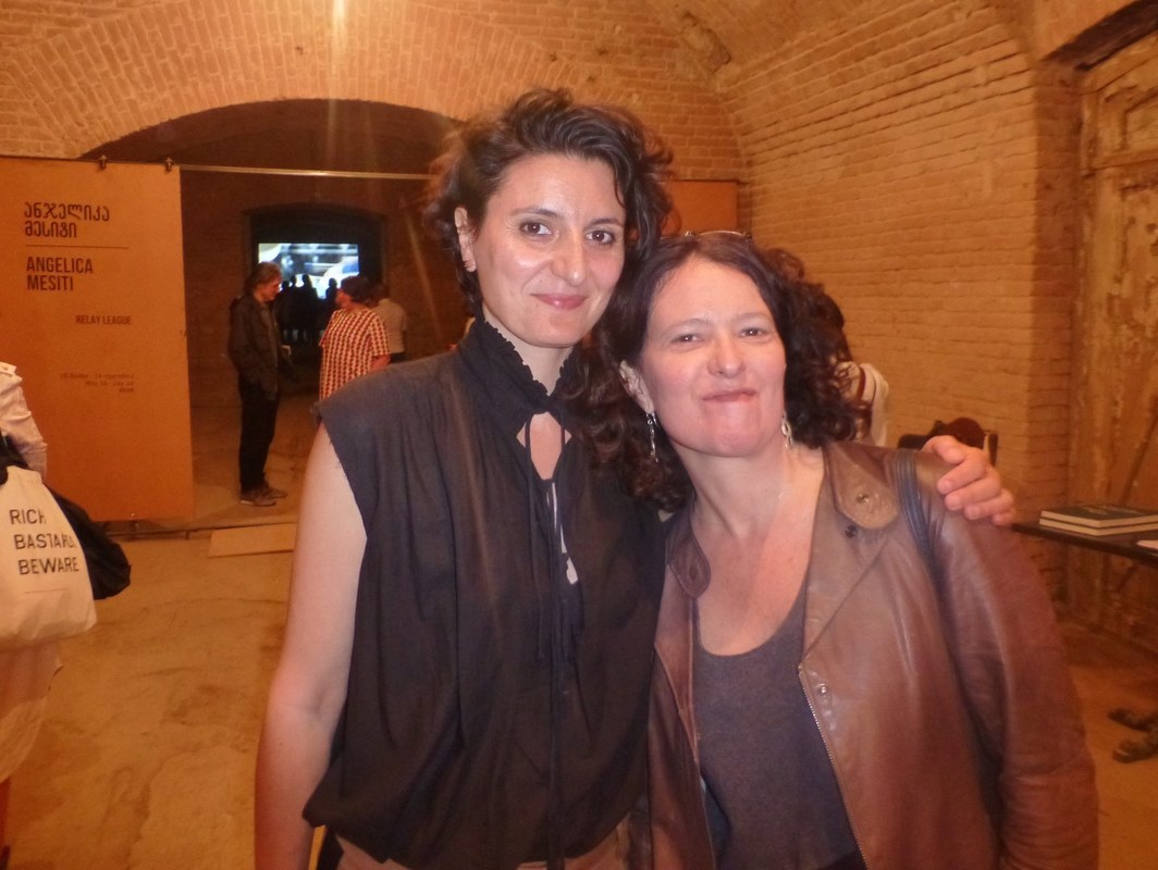 Artist Angelica Mesiti with Protocinema's Mari Spirito at the Petriashvil Winery for Kunsthalle Tbilisi.