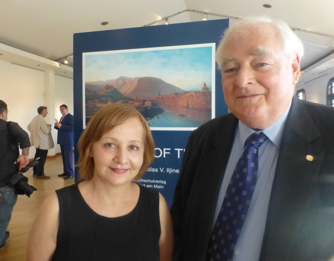 Curator Olesya Turkina with TAF board member Nic Iljine.