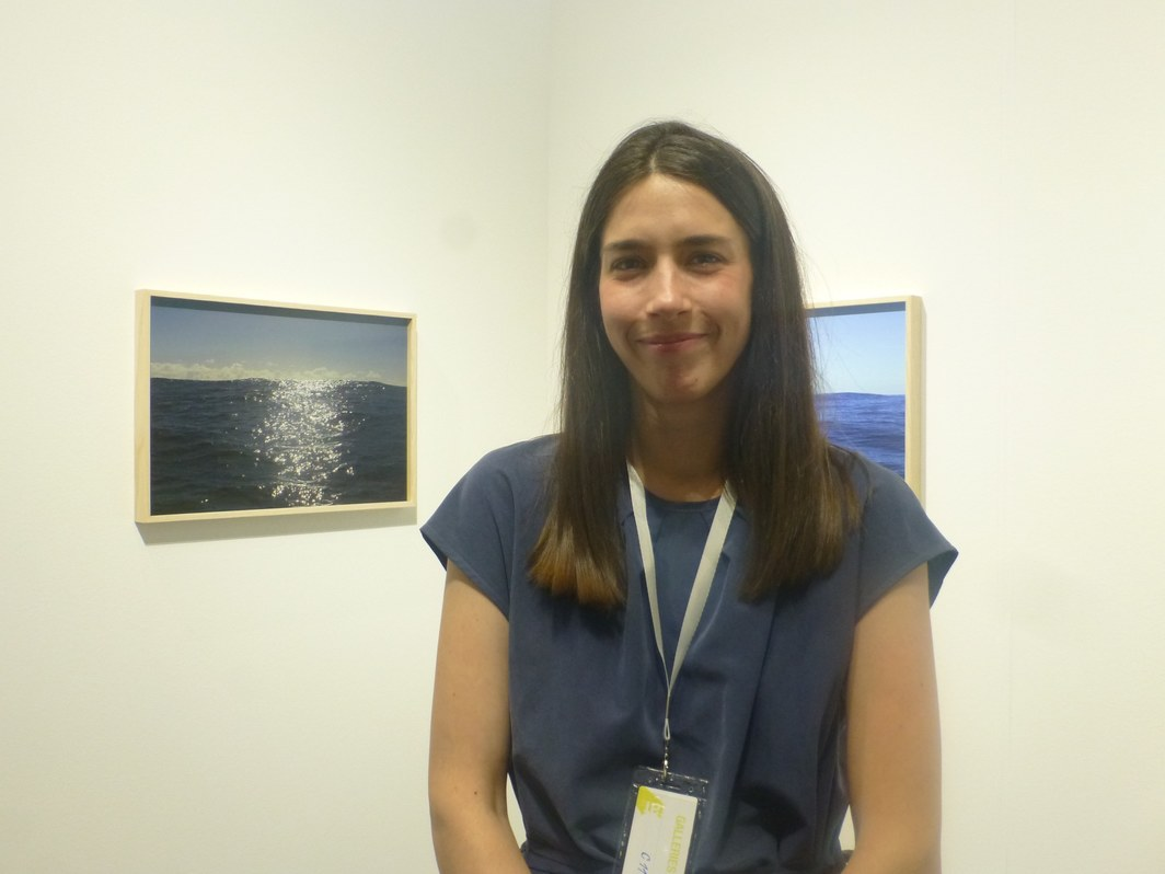 Zuza Koszuta of Czułość at the Tbilisi Art Fair.