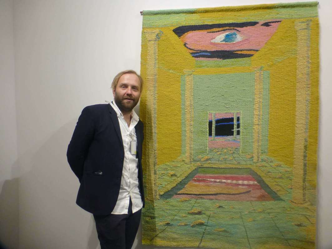 Dealer Dawid Radziszewski at the Tbilisi Art Fair.