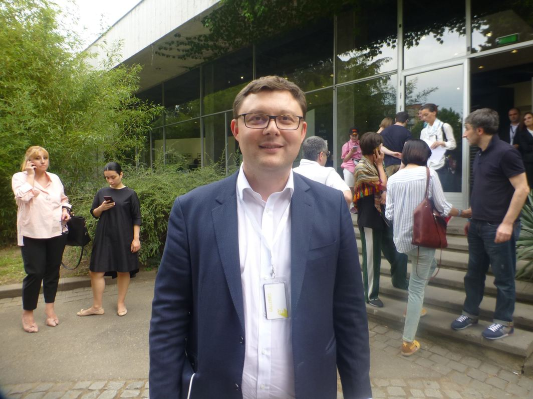 Moscow Museum of Modern Art director Vasili Tsereteli at the Tbilisi Art Fair.