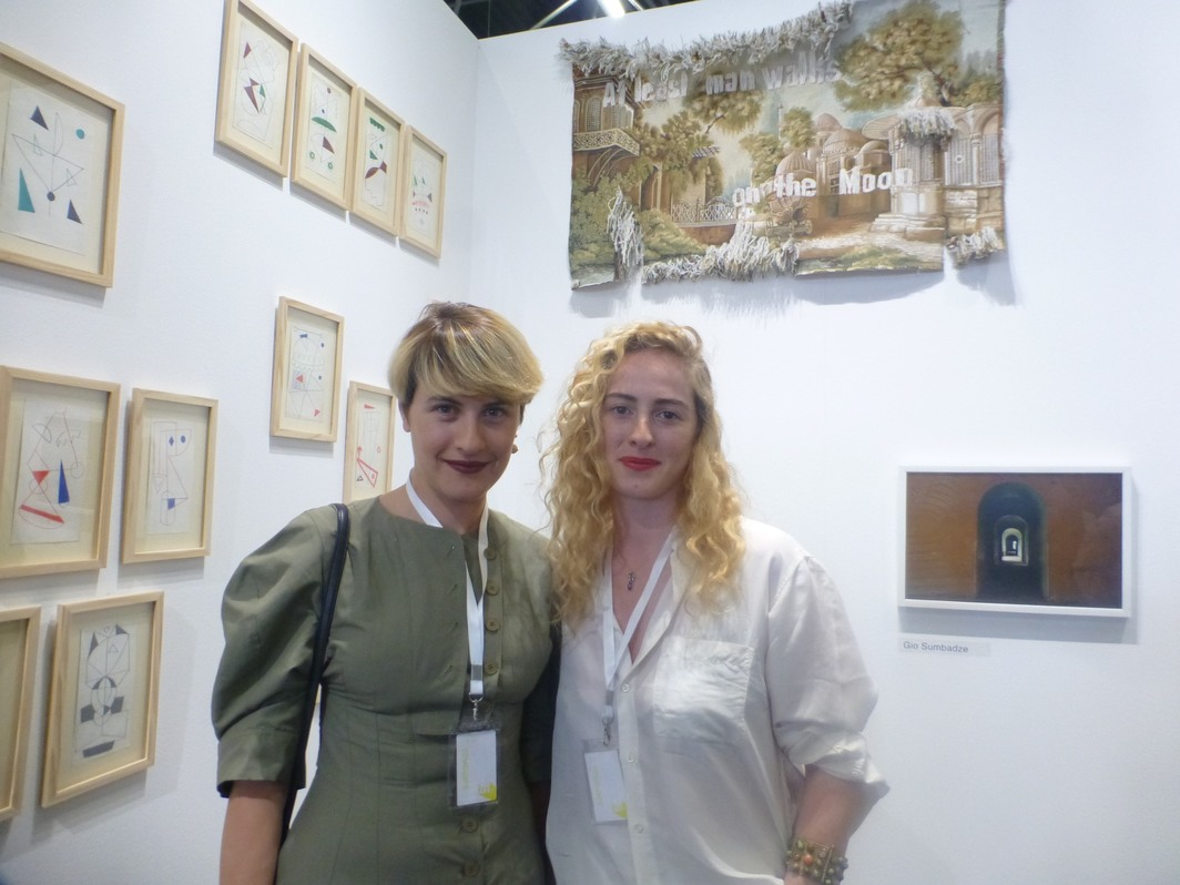 Project Art Beat's Natia Bukia and Salome Vakhania at Tbilisi Art Fair.