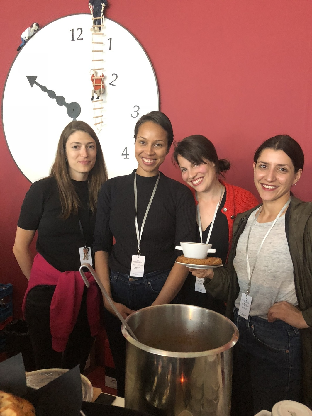 Laura Stocker, Fatuma Osman, artist Hannah Weinberger, and Judith Kakon.