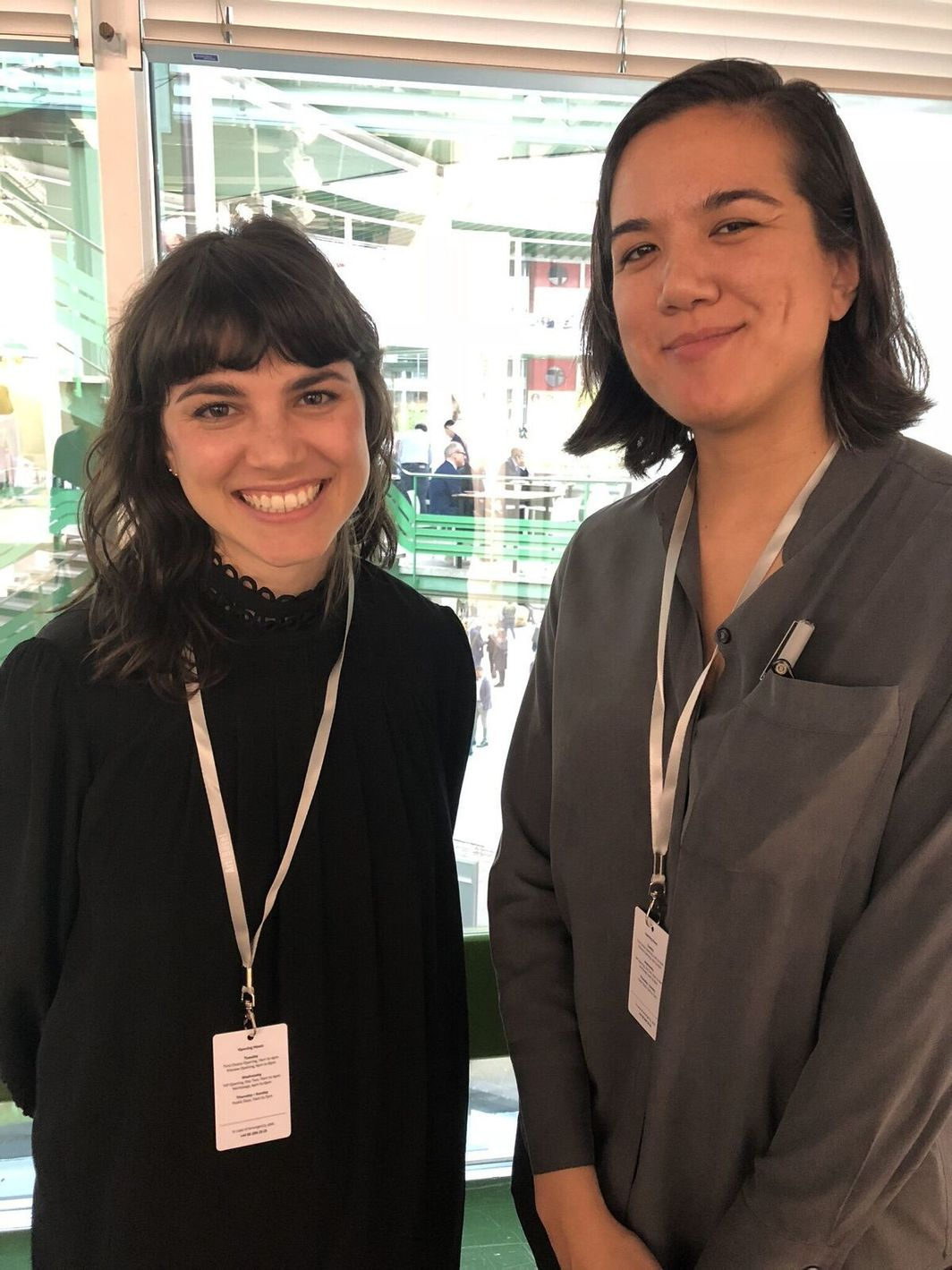 Dealers Marie Catalano and Jasmin Tsou.
