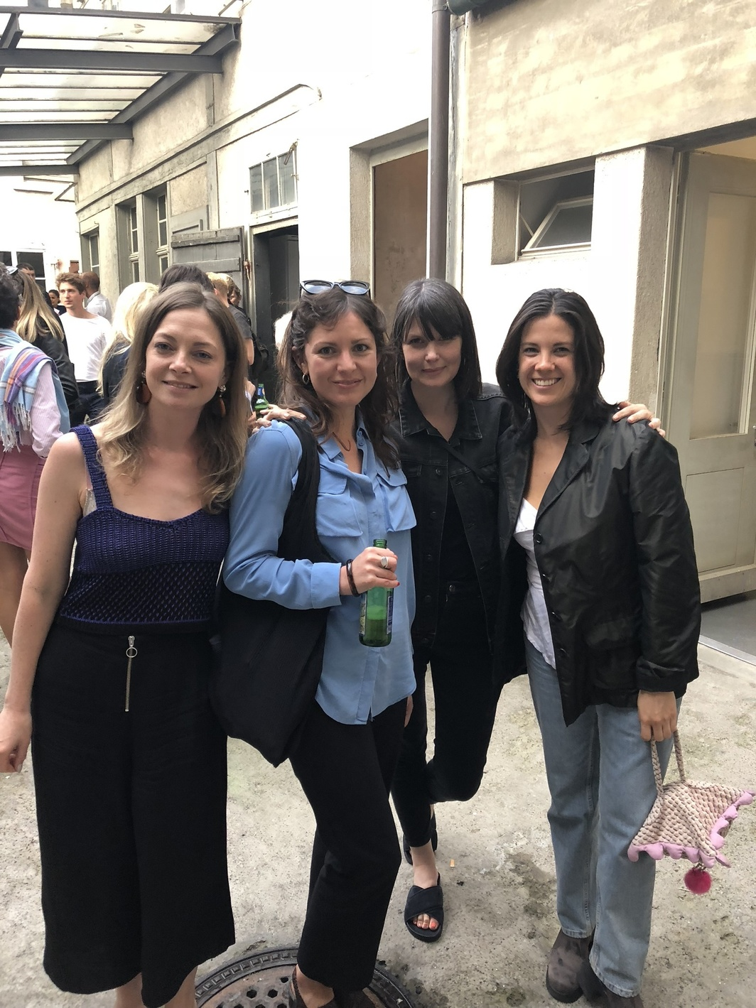 Curator Laura McLean-Ferris of the Swiss Institute; Harriet Blaise Mitchell, associate director at Herald Street; Kyla McDonald, interim director of the Bonner Kunstverein; and artist Tamen Perez.