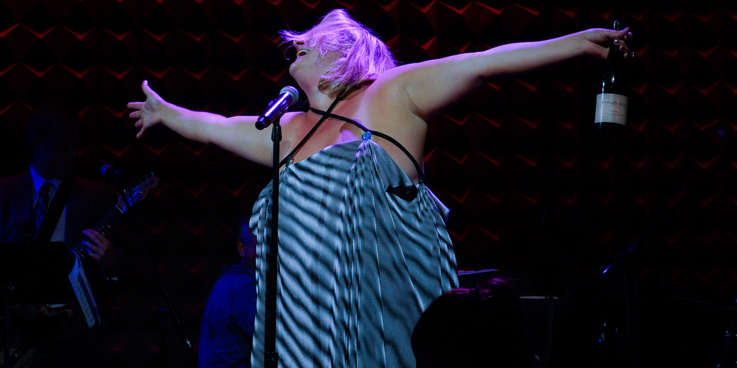Bridget Everett performing at Joe's Pub, 2018. Photo: Kevin Yatarola.