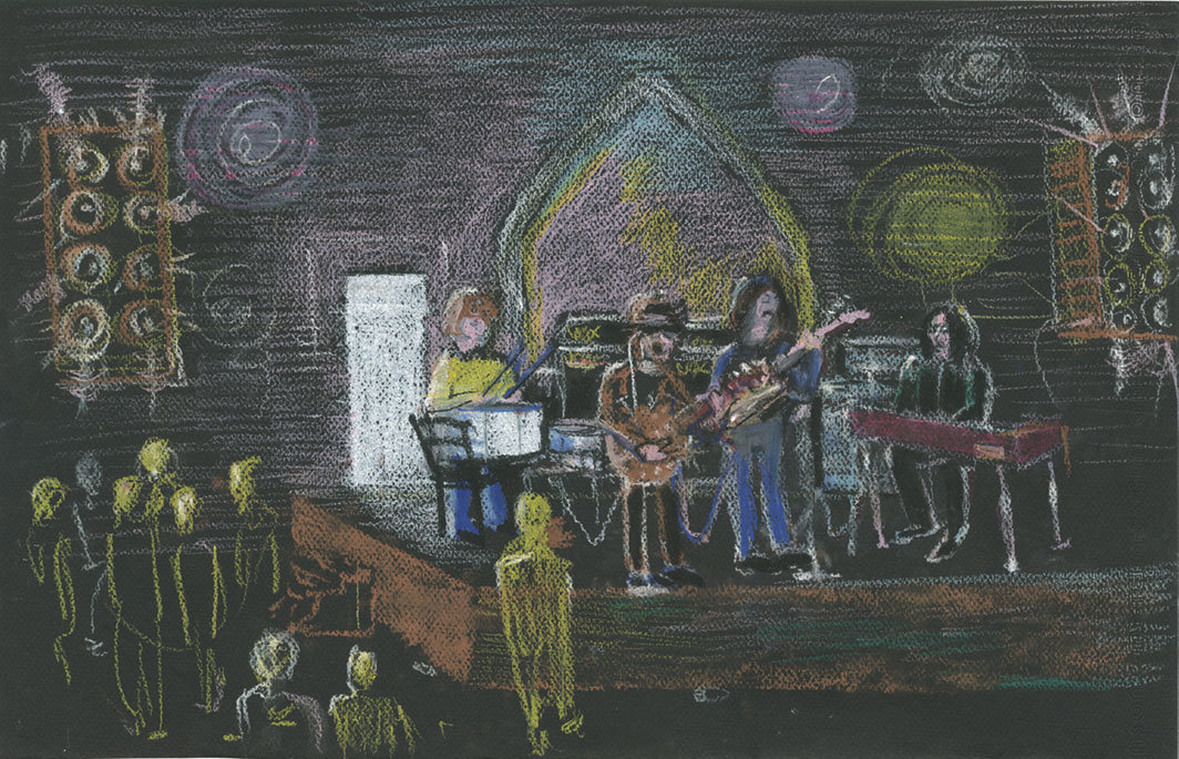 Jonathan Richman's recollection of the Velvet Underground performing at the Boston Tea Party in the late 1960s. Created for this article.