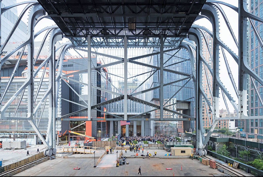 Construction view of Diller Scofidio + Renfro's the Shed, anticipated completion 2019, New York. Photo: Iwan Baan.