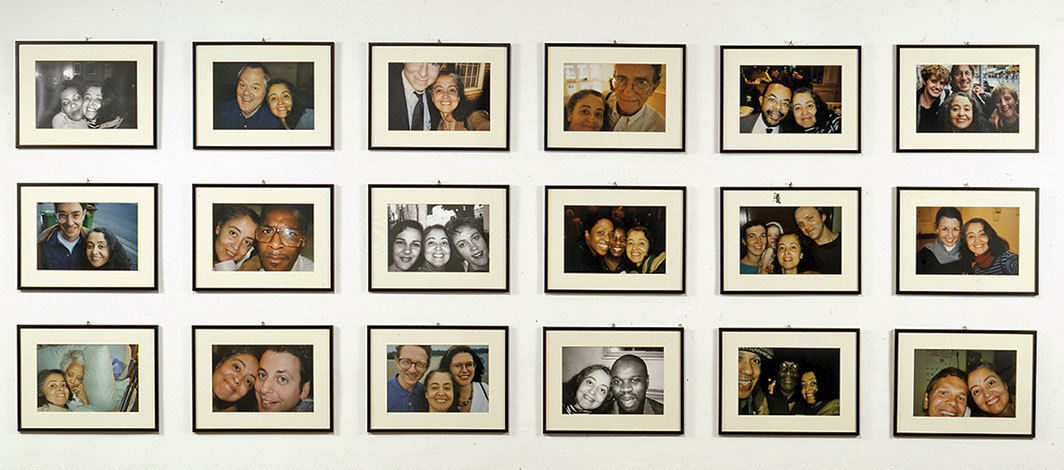 "Adrian Piper, I Am Some Body, The Body of My Friends #1–18, 1992–95, eighteen photographs, each 8 × 12""."